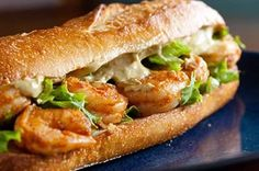 Declan's Smashmouth Shrimp Po'boy