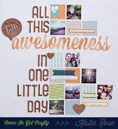 #papercraft #scrapbooking #layout - Awesomess by katie rose at @studio_calico