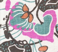 Textile Design Print reproduced from Vintage Handkerchief