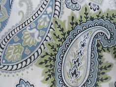Cynthia Rowley blue paisley bedding from Homegoods. I found this today.. beautiful :)