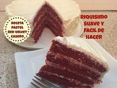 Receta Pastel Red Velvet Casero Rico y Fácil - Madelin's Cakes - YouTube