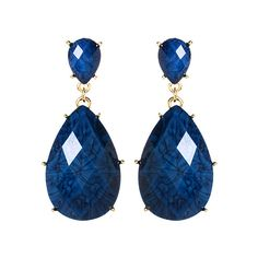 Amrita Singh Blue Lapis Mist Island Drop Earrings ($8.99) ❤ liked on Polyvore featuring jewelry, earrings, imitation jewelry, amrita singh jewellery, drop earrings, artificial jewellery and blue earrings