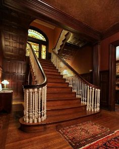 Columbine Bed Breakfast Louisville Picture Grand Staircase Splits Into Double Stair At Landing