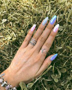 Light blue and pink nails accessories - ChicLadies. Magic Nails, Best Acrylic Nails, Nail Accessories, Nail Bar, Some Ideas, White Nails, Long Nails, Nails Inspiration, Glitter Nails
