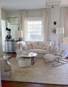 Round Ottoman under Round Cocktail Table....Lisa Sherry Interieurs | Interior Design
