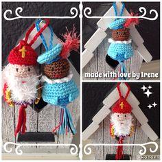 Sinterklaas haakpatroon zwarte piet haak patroon Sint Pietje haken gehaakte gelukspoppetje geluks poppetje gehaakt gelukspoppetjes poppetjes