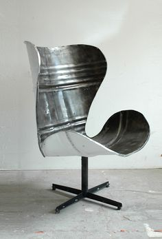 Po-Paris Design - Steel-barrel chair