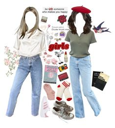 """Harold, they're lesbians"" by gr8star51 ❤ liked on Polyvore featuring Brandy Melville, Reiss, Converse, adidas Originals, Maria La Rosa, France Luxe, Olympia Le-Tan, Hot Topic, Kodak and L K"