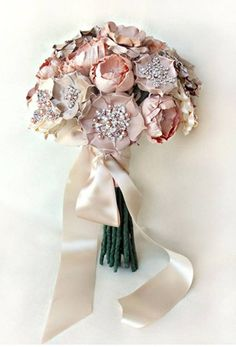 this fabric flower bouquet! Only $1,600.. ha