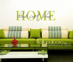 Home sweet home wall decal  Home wall decal  by WallapaloozaDecals