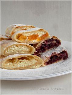 ...konyhán innen - kerten túl...: Házi rétes Hungarian Desserts, Hungarian Recipes, Hungarian Food, Sweet Cookies, Polish Recipes, Strudel, French Toast, Sweets, Baking