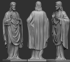jesus statue 3d model stl 3 Jesus Christ Statue, 3d Printed Objects, Religious Pictures, Modelos 3d, 3d Prints, Holy Family, Michelangelo, Messi, Biscuit