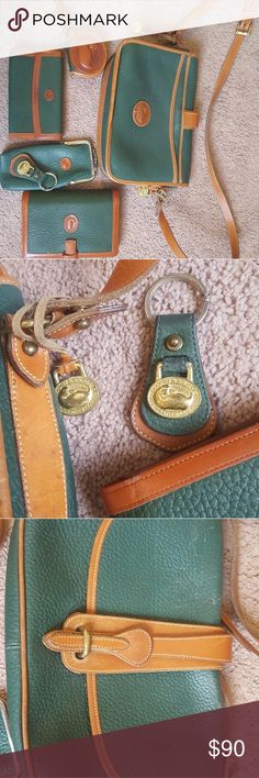 Vintage 1994 Dooney and Bourke Leather Bundle Vintage Dooney and Bourke Bundle All Weather Leather bags and key chain.  Some wear on metal piece but great condition for its age. Dooney & Bourke Bags Shoulder Bags