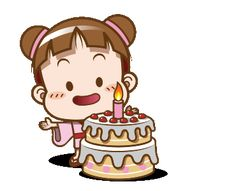 LINE Official Stickers - Cocoa – Cute Animated Sound Stickers 2 Example with GIF Animation Cute Birthday Wishes, Happy Birthday Celebration, Happy Birthday Quotes, Cute Cartoon Characters, Cartoon Gifs, Cute Funny Quotes, Beautiful Gif, Gif Pictures, Cute Gif
