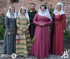 Medieval kirtles and coifs.