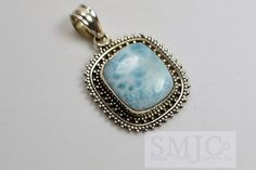 Rare Caribbean Larimar in Solid Sterling. Starting at $1 on Tophatter.com! #sterlingsilver #auction #jewelry #tophatter #$1Start #freeshipping