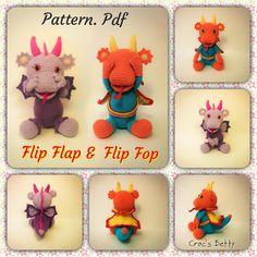 Pattern [EN-FR] - Flip Flop & Flip Flap, by Croc's Betty