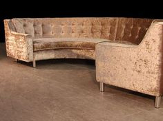 Cheap Sectional Sofas Semi Circle Sofa in Gold Crushed Velvet