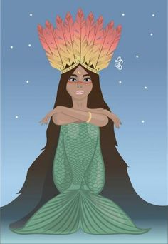 Trendy how to draw a mermaid tale ideas Siren Mermaid, Mermaid Tale, Black Mermaid, Fantasy Mermaids, Unicorns And Mermaids, Mermaids And Mermen, Fantasy Creatures, Mythical Creatures, Mermaid Pictures