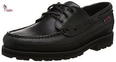 Sebago Vershire Three Eye, Chaussures Bateau Homme, Noir (Black Oiled Waxy Lea), 43 EU - Chaussures sebag (*Partner-Link)