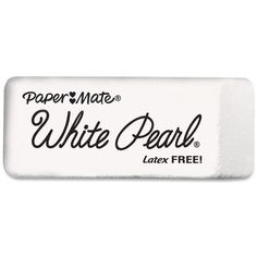 Paper Mate White Pearl Latex-free Eraser ($15) ❤ liked on Polyvore featuring home, home decor, office accessories, fillers, white, office supplies, school stuff, paper mate pencils, white pencil and white eraser