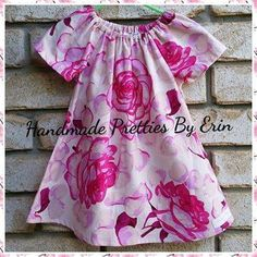 Handmade by Handmade Pretties By Erin Size 12-18months Peasant Dress