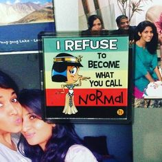 """Loved the  line provided by @kirtipingale... Cleogyan.  She is a dentist...traveller...perfect one to """" refuse to be normal """"  #fridgemagnet #thoughts #expression #notnormal #puneinstagrammers #startup  #thoughtroad"""