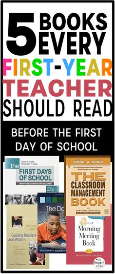 5 books every first-year teacher should read before the last day of school by The Pinspired Teacher