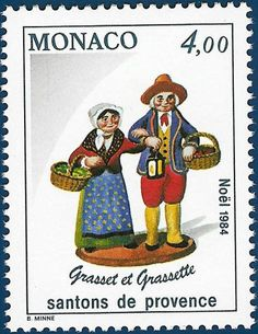 """Postage Stamps """"Santons de Provence"""" - Grasset et Grassette.   Repinned by www.mygrowingtraditions.com"""