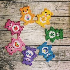 I was just feeling the 80s this week. My childhood was full of rainbows! Pattern for Cheer Bear found at docespontos.com.br, the rest are variations by me. ... ... ... #perlerart #perlerbeads #perlerbrand #perlerartist #pixelartist #pixelart #carebears #80s #vintagetoys #retrotoy #pride #prideweek #rainbow # #kandi