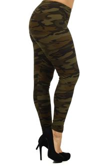 Risky Business Camouflage Plus Size Leggings