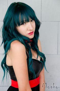 dark blue green hair - Google Search