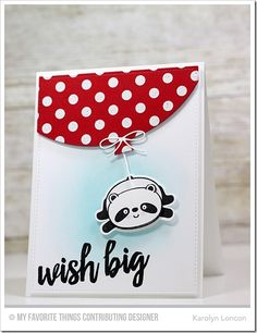 Brushstroke Birthday, Happy Pandas, Polka Dot Background, Blueprints 26 Die-namics, Happy Pandas Die-namics - Karolyn Loncon  #mftstamps