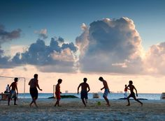 soccer on the beach #playas de #cancun