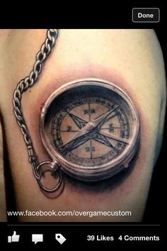 Compass tattoo 3D is the way to go! Beautiful!