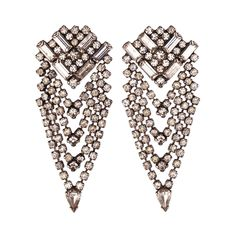 Mariella  Earrings  Effortless yet intricately detailed chandelier earrings for a subtle touch of femininity. The perfect evening earrings for a black tie event  Measure approximately 2'' long from post and approximately 1'' wide at widest point    Made with Swarovski Crystals    Handmade in New York (with Love)  $245.00