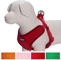 nice Blueberry Pet Harnesses for Small dogs Classic Solid Padded Dog Harness Vest