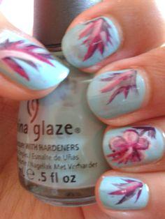 Tuto Floral Nails