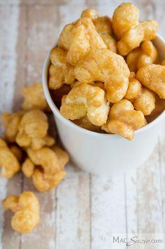 Caramel Corn Puffs + MacSuzie is Salty Snacks, Yummy Snacks, Delicious Desserts, Yummy Food, Fun Food, Popcorn Recipes, Snack Recipes, Cooking Recipes, Easy Recipes