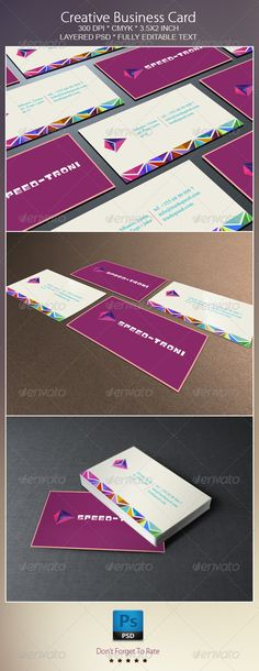 Creative Business Card by YellowDiamonds , via Behance