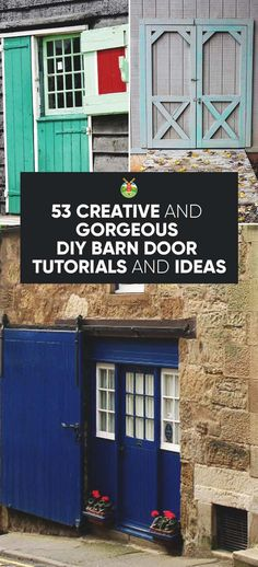 Over 50 great ideas to help you create a sliding DIY barn door in your home for a rustic and distinctive look that also saves space.