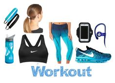 """""""Workout"""" by dance360 ❤ liked on Polyvore featuring NIKE, Brisas, L. Erickson, Sweaty Bands, Forever 21, Beats by Dr. Dre and CamelBak"""