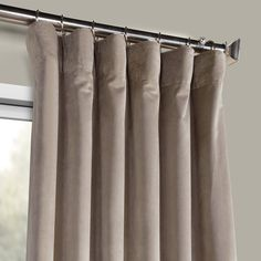 Finish your room by gallery taupe plush velvet curtain, elect expertly crafted velvet drapes from our luxury collection. Buy now - plush velvet curtains! Curtains 1 Panel, Silk Curtains, Drapery Panels, Modern Curtains, Bedroom Drapes, Cozy Bedroom, Velvet Drapes, White Pillows, Home Decor Outlet