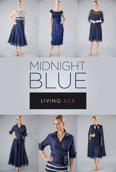 65c13f97c83 Living Silk - specializing in navy dresses and two piece outfits with  sleeves for the modern and elegant mother of the bride and mother of the  groom for a ...