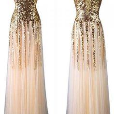 371f2bc76 Beautiful Prom Dress, Gold A-line Sweetheart Floor-length Chiffon Evening  Dress Prom Dresses SP8229