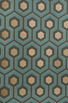 Hicks Hexagon Wallpaper modern wallpaper