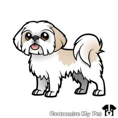 Customize My Pet Balou Perro Shih Tzu, Pet Grief, Lhasa Apso, Cartoon Dog, Animal Faces, Gifts For Pet Lovers, Dog Art, Cute Drawings, Bunt