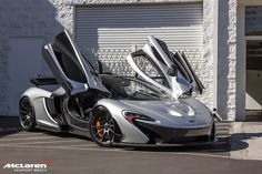 "McLaren P1 painted in ""Supernova Silver""  Photo taken by: LamboMcLarenNB on Flickr"