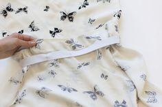 Video: Installing an elastic waistband on a dress, using Myrtle pattern. Shows how to do with knits and with wovens. | Colette Blog