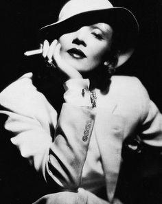 "loveartfashionme: ""Marlene Dietrich"""